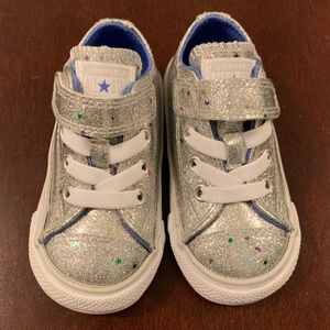 Converse Kids Sneakers in Silver